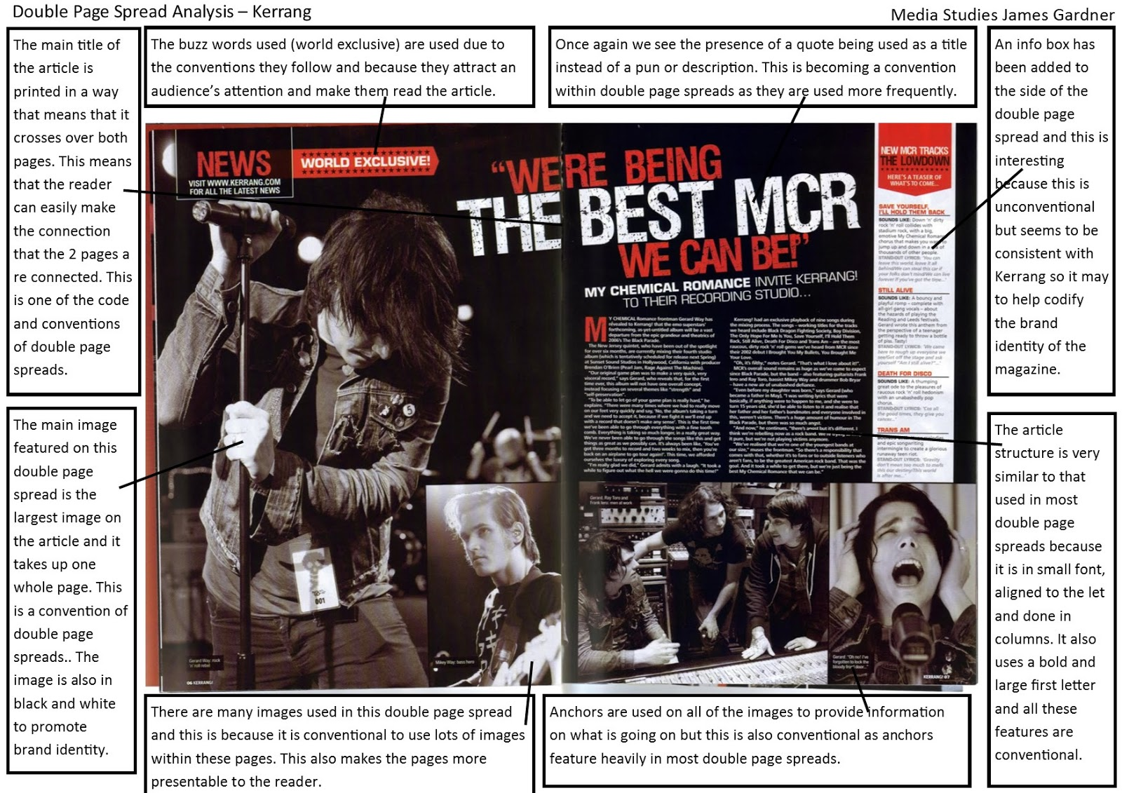 as media coursework magazine analysis The video is typical of its genre, indie-folk, it contains scenes of the band playing live, natural elements such as the fields, scenes which look like home videos.