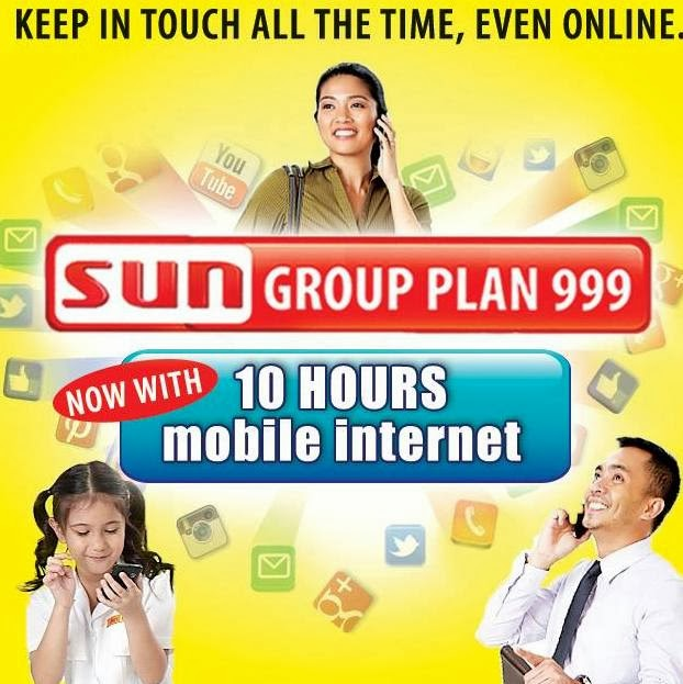 Sun Group Plan 999 now with Mobile Internet Browsing