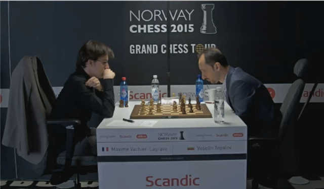 Norway Chess 2015. Maxime Vachier-Lagrave - Veselin Topalov