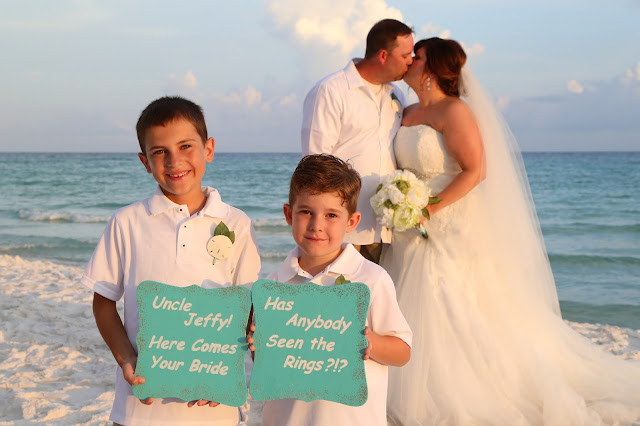 beach wedding sign ideas for your ring bearer destin beach wedding