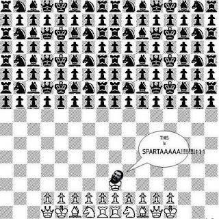 Battle chess spartan analogy