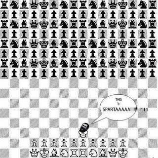 Battle chess spartan analogy