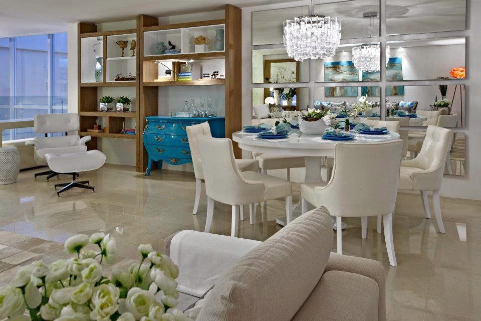 decoracao laca branca : decoracao laca branca:Mesas redondas – veja 30 salas de jantar e cozinhas com essa