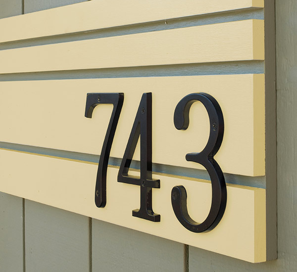 Mad for mid century mid century modern house numbers project for Mid century modern address numbers