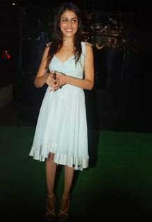 Genelia In White Dress