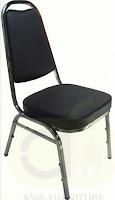 เก้าอี้สัมมนา เก้าอี้ประชุม เก้าอี้จัดเลี้ยง   พนักพิงทรงตัวเอ หรือที่เรียกว่าพนักพิงโค้งเล็ก