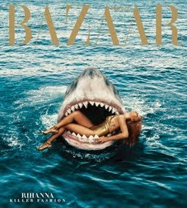 Na boca do tubarão: veja mais fotos da Rihanna para a revista Harpers Bazaar