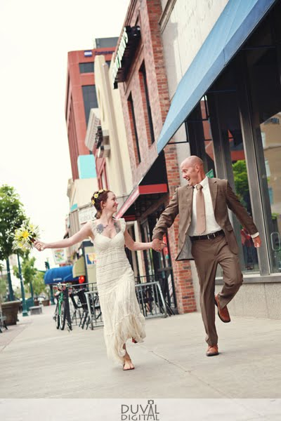 Fun Bride & Groom Skipping Formal | Phantom Canyon Wedding | Colorado Springs, CO
