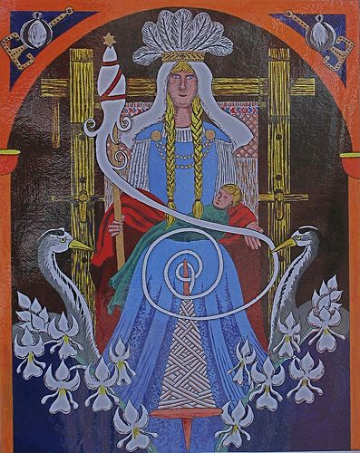 Frigg, the goddess of love, marriage, and destiny.