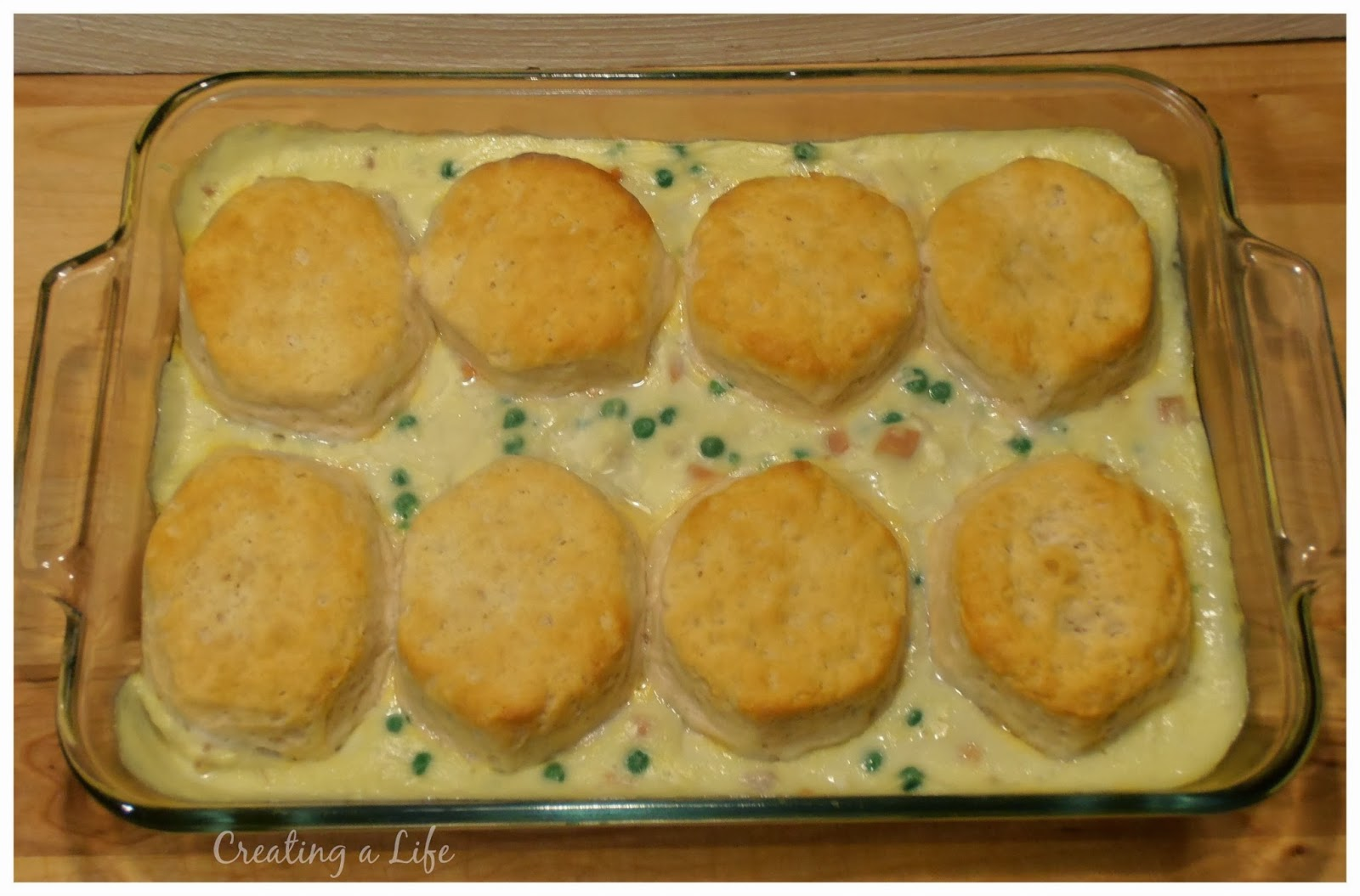 It's as easy as that! I served the chicken and biscuits with a simple ...
