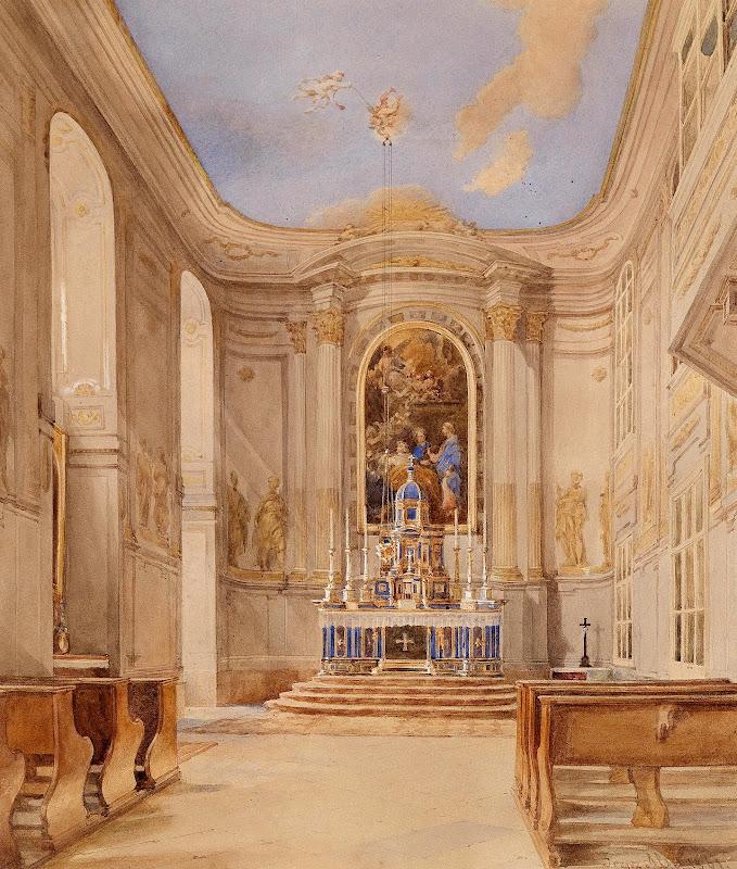 Franz Alt - Kircheninneres 1861
