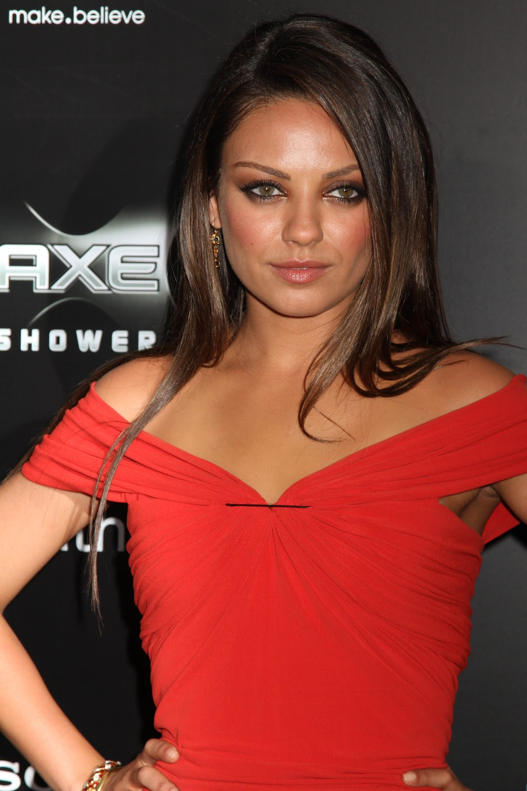 Mila Kunis in Red Dress