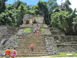 Temple of the Skull at Palenque in Mexico