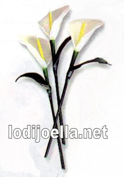Crea una velas de flor de alcatraz cala o lirio de agua  lodijoella