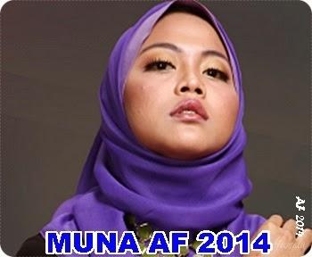 Biodata Muna AF 2014, biodata peserta Akademi Fantasia 2014, profil Akademi Fantasia 2014, latar belakang peserta Akademi Fantasia 2014, gambar Muna AF 2014