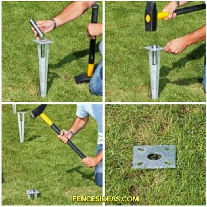tucking the position of the ground socket with a spirit level and adjust if necessary this is very easy where you attach a fence posts and align it