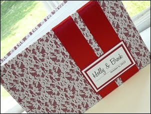 Custom Lace Guest Book