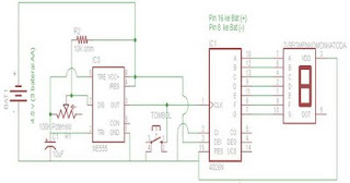 7 Segment Display + Digital Dice  with IC 4026