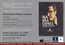 VIERNES 3 PRESENTACION NARRACIONES DE PEDRO LEZCANO