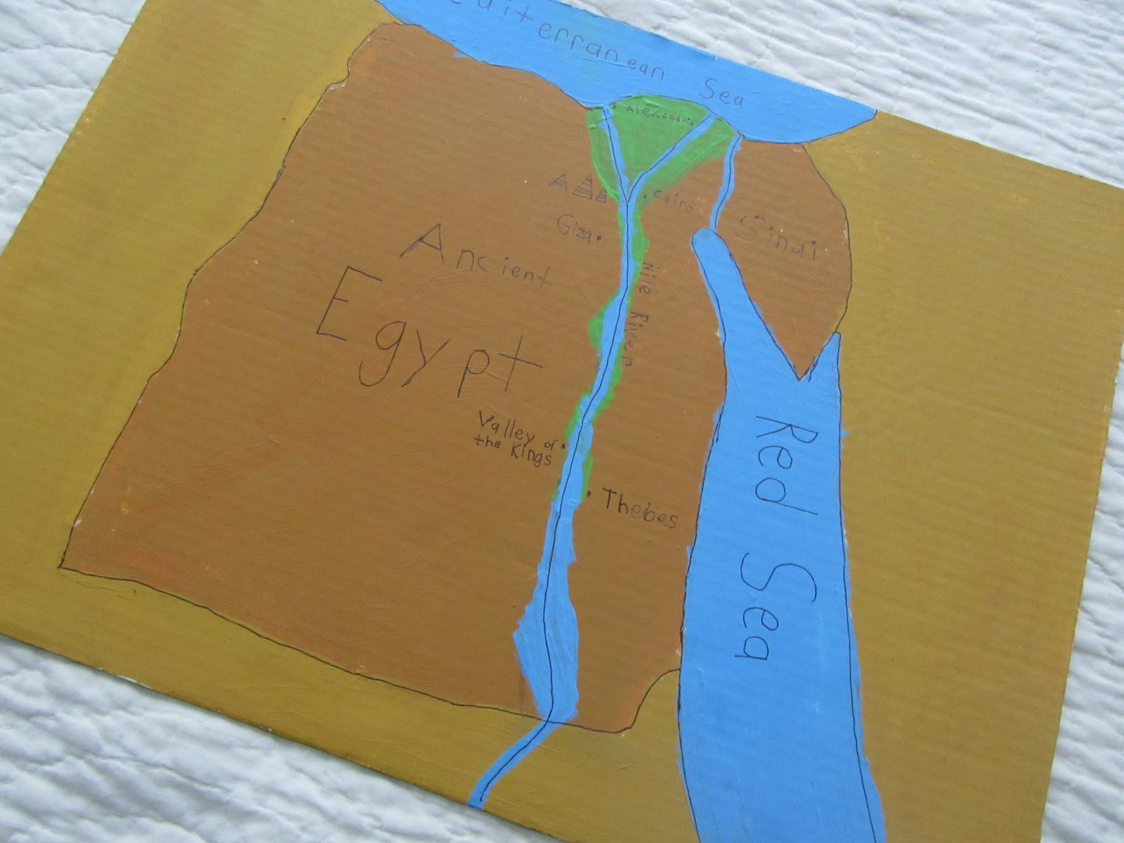 The Unlikely Homeschool Ancient Egypt Unit Study Map Of Egypt - Ancient egypt map