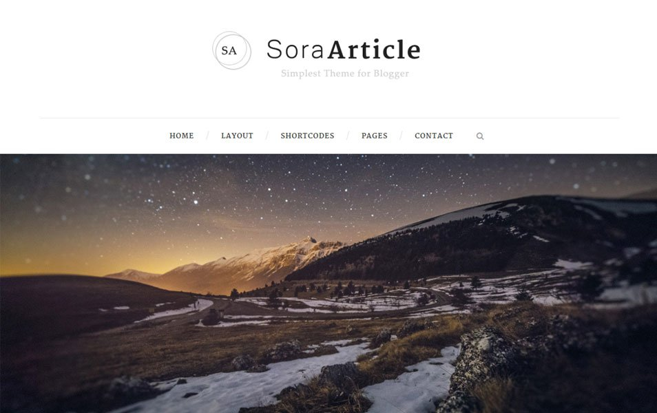 Sora Article – Minimal Responsive Blogger Tema