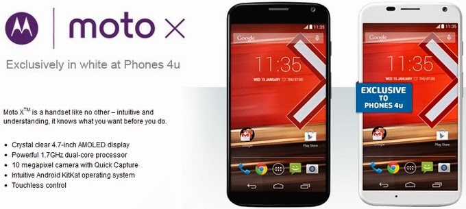 Motorola Moto X on sale today at Phones 4U