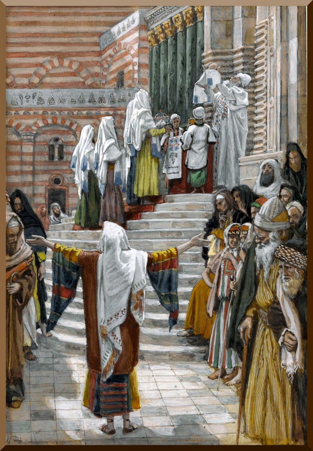 """The Presentation of Jesus in the Temple"" -- by James Tissot"