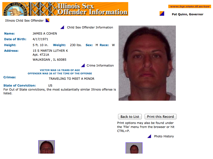 Wi sex offender lookup