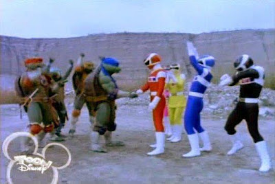 Momento histórico,  Tortugas Ninja, conocen Power Ranger