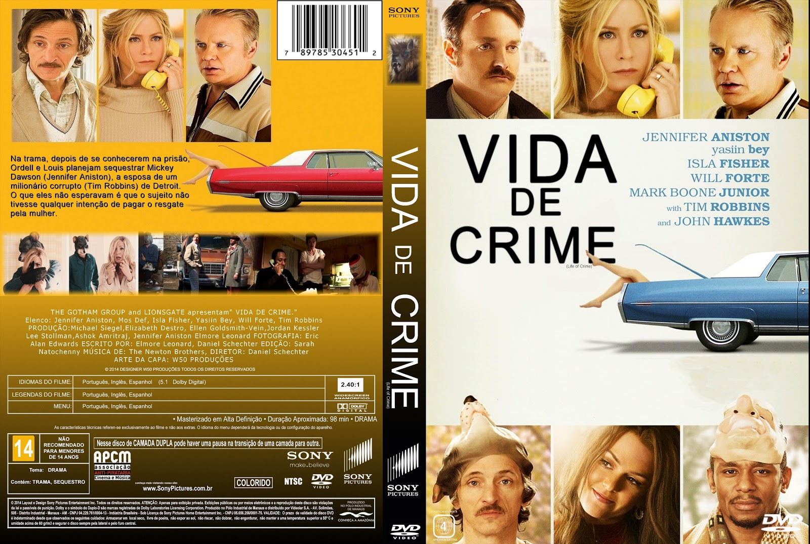 Capa DVD Vida De Crime