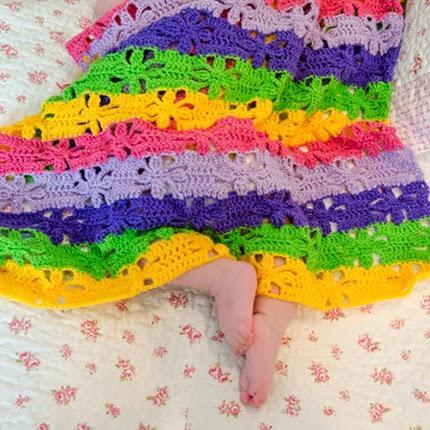 Spring Flowers Blanket - FREE Crochet Pattern