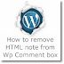 How to remove 'You may use these Html tags and attributes'