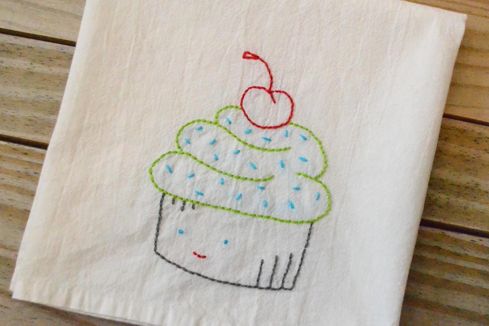 Craftaphile Handmade Gift Exchange Embroidered Dish Towel