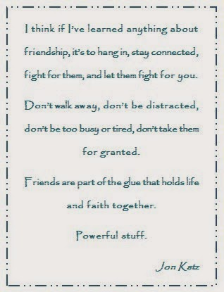 The importance of friends - quote