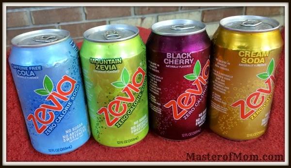 Caffeine Free Zevia Cola, Mountain Zevia, Zevia Black Cherry, Zevia Cream Soda