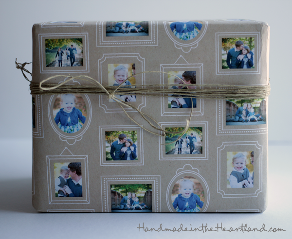 personalized gift wrap