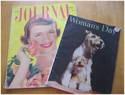 Ladies Home Journal, March 1954 and Woman's Day, October 1941, Serendipity Handmade blog