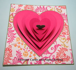 pull tab valentine heart card completed