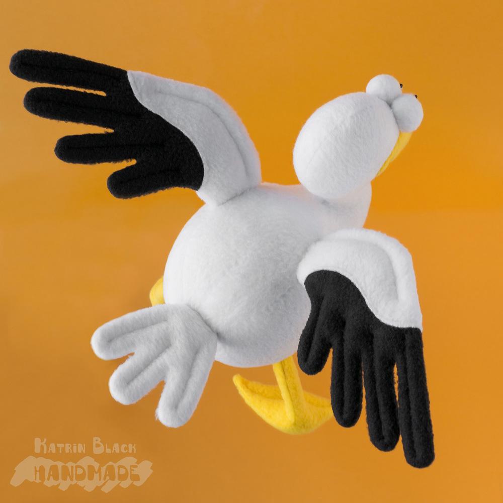Пеликан - игрушка из флиса. Авторская выкройка.