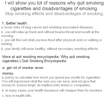 why quit  smoking cigarettes