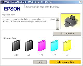 reset epson c110