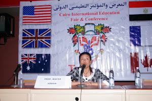 بروفيسور وفاء فى مؤتمر التعليم الدولى بالقاهرة