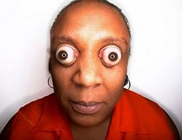 funny women large eyes - ..Kiran Heran..