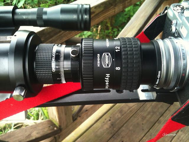 Digiscoping - Baader Hyperion 8-24 Zoom/ 使用49-43 轉接環連接相機與目鏡