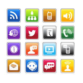 コニュニケーション ツール アイコン Communication Icons イラスト素材