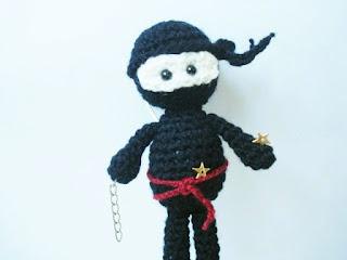Amigurumi Ninja : AllSoCute Amigurumis: Amigurumi Crochet Black Ninja Pattern