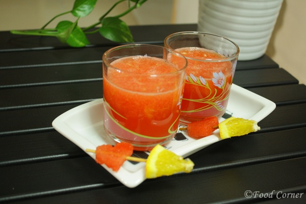 Food Corner:Watermelon and Orange Juice