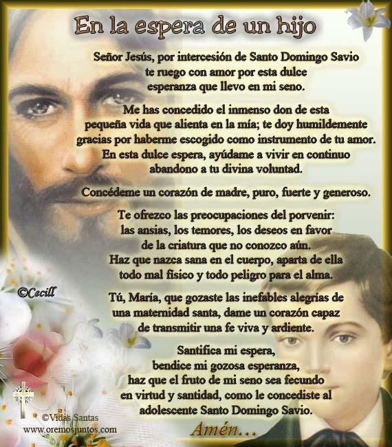 Oración de una madre, en la espera de un hijo, al Señor Jesús,por