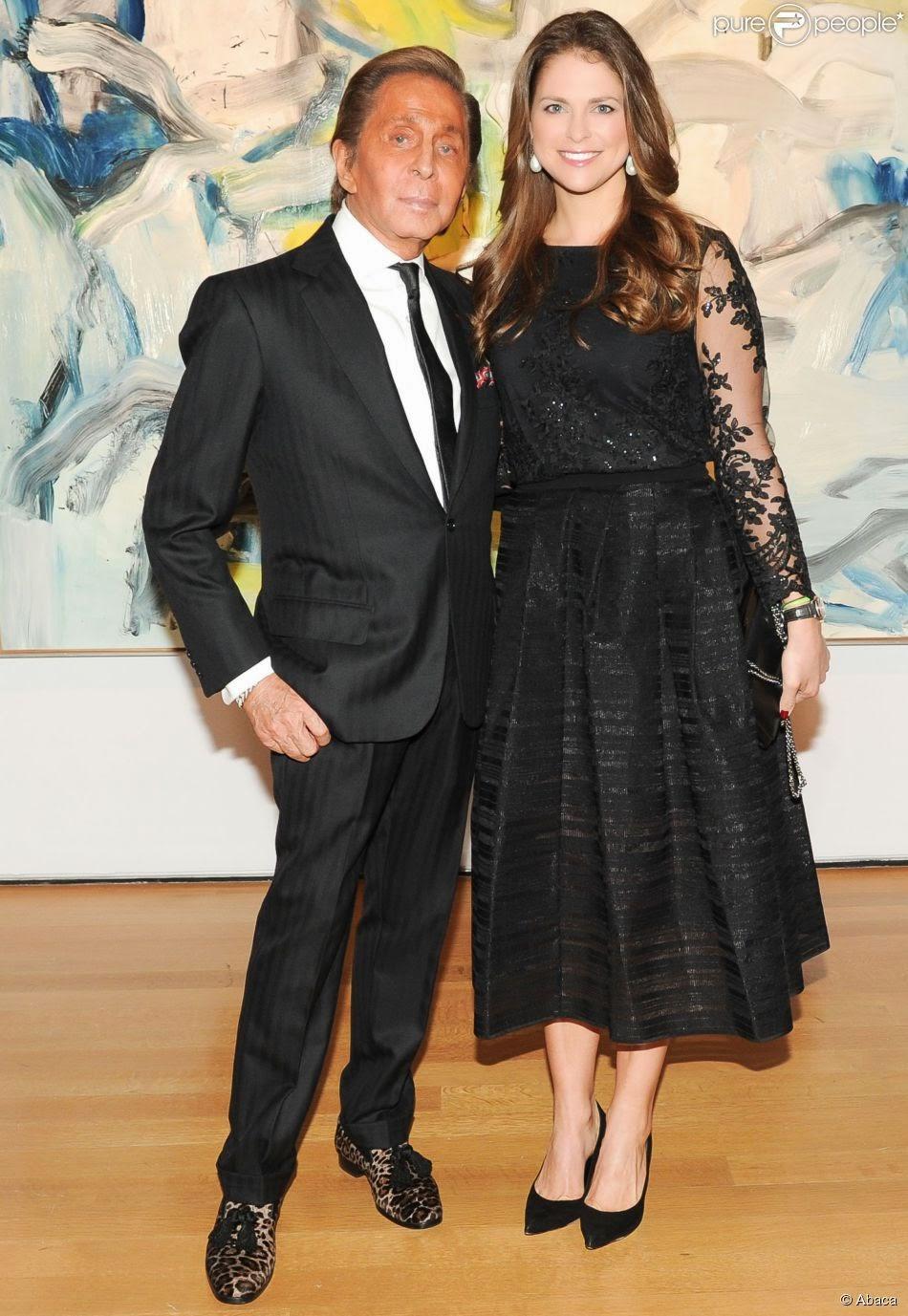 ... Valentino était le créateur de la robe de mariée de la princesse