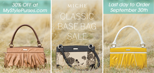 Miche Classic Base Bag Sale 30% off until 9-30-12